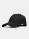 ユニセックスコットン無地幾何学模様刺繡ファッションオールマッチ野球帽 - 黒