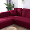 Premium Quality Stretchable Elastic Sofa Covers Premium All-Season Sofa Slip Covers Pet-Friendly and Stain-Resistant - Wine Red