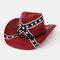 American Flag Retro Western Cowboy Hat Summer Prairie Straw Hat - #01