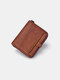Men Genuine Leather Multi-slots Retro Removable Foldable Card Holder Wallet - Yellow