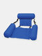 Summer Inflatable Foldable Floating Row Swimming Pool Water Hammock Air Mattresses Bed Beach Water Sports Loungerx Chair - Blue