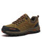 Men Non Slip Hard Wearing Lace-up Soft Hiking Outdoor Shoes - Brown