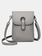 Casual Clear Fabric 6.8 Inch Phone Bag Exquisite Hardware Waterproof Wearable Crossbody Bag - Light Gray