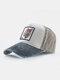 पुरुष कढ़ाई टाइगर पैटर्न बेसबॉल कैप आउटडोर सनशेड समायोज्य टोपी - धूसर