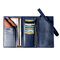 Men Trifold Long Wallet Card Holder Clutch Bag - Blue