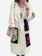 Knited Letters Patch Long Sweater Cardigan