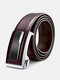 120CM Men Genuine Leather Alloy Automatic Buckle Business Casual All-match Belts - #02