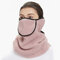 Men Women Winter Warm Cold Dustproof Breathable Warm Ears Outdoor Cycling Ski Travel Mouth Face Mask - Purple
