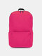 Oxford Multicolor Minimalist Stress Reliever Splashproof Breathable Outdoor Travel Backpack - Rose Red