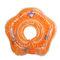 Cercle de flotteur infantile de sécurité de Tube d'anneau de cou d'accessoires de bébé de natation pour l'eau gonflable de flamant rose gonflable de bain - Orange