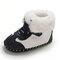 Baby Toddler Shoes Non Slip Soft Plush Warm Lined Snow Boots - Black