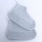 Women Waterproof Dustproof Shoes Protector Transparent Latex Non Slip Foot Cover  - Grey1