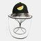 Children's Dust Cap Detachable Face Screen Windproof Transparent Fisherman Hat  - Black