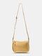Casual Soild ZIP Decor Convertible Straps Crossbody Bag Handbag - Yellow