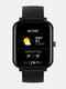 [Bluetooth通話] 7x24h心拍数モニター60 + Watch Faces Weather Display ミュージックコントロールスマートWatch - 黒