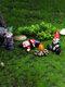 ドワーフおかしいミニチュア妖精の庭おしっこ酔ったノームエルフの装飾品手工芸品屋外樹脂盆栽庭の装飾 - セット