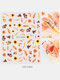 3D Nail Art Stickers Waterproof Small Fresh Colorful Simulation Dried Flowers Butterfly Nail Decals - #04
