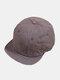 Unisex Cotton Solid Color Soft Short Brim Drawstring Fashion Baseball Caps - Gray