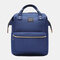 Baby Diaper Nappy Backpack Large Capacity Waterproof Nappy Changing Bag Baby Care Mother Organizer - Blue