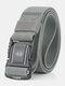 125CM Men Nylon Belt Metal Magnetic Buckle Quickly Unlock Tactical Casual Belt - Light Grey