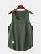 Mens Simple Solid Multi Color Casual Breathable Sleeveless Tank Top - Grey
