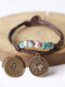 Vintage Constellation Circle-shape Ceramic Alloy Bracelets - #12