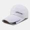 Men Sunscreen Outdoor Fishing Travel Casual Broad Brim Visor Sun Hat Baseball Hat - White