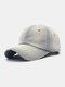 Unisex Denim Solid Color Ripped Edge Sun Protection Fashion Baseball Cap - #01