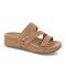 Plus Size Women Rhinestone Opened Toe Hook Loop Platform Casual Slide Sandals - Brown