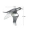 Europeo 3D estéreo pared resina pájaro pared fondo ornamento hogar artesanía decoración - #17