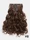 23 цвета, 16 зажимов, длинные вьющиеся, 42868, 24 шт., Высокотемпературное волокно, пушистое, без маркировки, Волосы, удлинение - 04