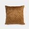 Pure Color Plush Geometric Pineapple Grid Sofa Pillow Living Room Bedside Pillowcase - Brown