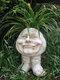 1 pieza divertida expresión Muggly's The Face estatua jardinera jardín hilo escultura decoración flor planta maceta - #04