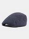 पुरुषों और महिलाओं के ठोस रंग आकस्मिक आउटडोर आगे टोपी फ्लैट टोपी टोपी टोपी - नौसेना