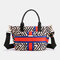 Women Large Capacity Nylon Flowers Printed Handbag Crossbody Bag - #04