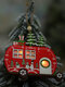 1Pc Christmas Ornaments With Light Hollow Wooden Pendants Creative Car Small Tree Ornaments - #01