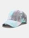 Unisex Cotton Tie-dye Contrast Color Fashion Sunshade Baseball Hat - Gray