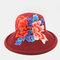 Retro Embroidery Big Brim Hat Half-top Hollow Breathable Ladies Beach Hat Folding Hat - #03