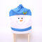 Non-woven Fabric Chair Back Cover Christmas Decorations Chair Cover - Blue