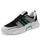 Men Mesh Splicing Light weight Sport Casual Sneakers - Green