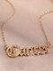 Elegant Letter Inlaid Diamond Women Necklace Twelve Constellation Pendant Necklace Jewelry Gift - Cancer