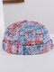 Unisex Cotton Tie-dye Contrast Color Fashion Outdoor Brimless Beanie Landlord Cap Skull Cap - Red