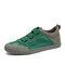 Men Fabric Splicing Non Slip Elastic Band Sport Casual Shoes - Green