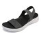 LOSTISY Elastic Band Comfortable Athletic Sole Flat Casual Beach Sandals