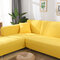 Premium Quality Stretchable Elastic Sofa Covers Premium All-Season Sofa Slip Covers Pet-Friendly and Stain-Resistant - Yellow
