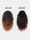 8 Color Africa Small Curly Ponytail Soft Fluffy Gradient Middle-Length Curly Wig Piece - #03