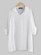 Casual Solid Color Lapel Long Sleeve Plus Size Shirt - White