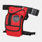 Nylon Outdoor Multi-function Hip Bag Belt Bag For Women Men - Brick Red