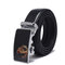 Men Alloy Buckle Automatic Buckle Belt Outdoor Casual Business Wild Leather Belt - #1