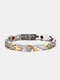 Vintage Dragon Pattern Men Bracelet Titanium Steel Magnetic Therapy Women Bracelet - #02
